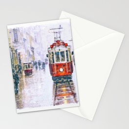 Istanbul Nostalgic Tramway Stationery Cards