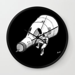 Lost (My Keys) In Space -- No Stars Wall Clock