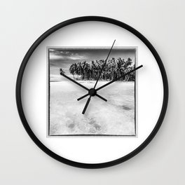 Indonesia, Coconut Palms in the Indian Ocean Wall Clock