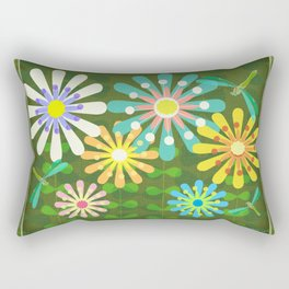 In The Garden Among The Flowers Rectangular Pillow
