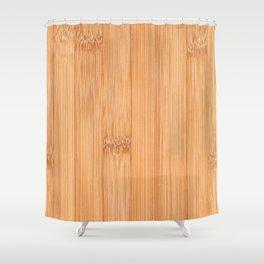 Cool elegant light brown bamboo wood print Shower Curtain