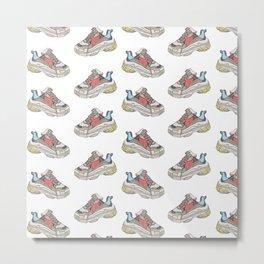 Balenciaga Triple S Sneaker Pattern Illustration Dad Shoe Metal Print