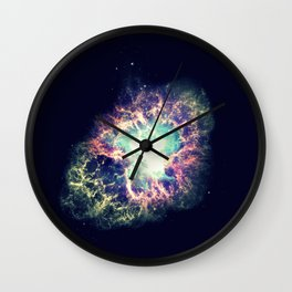 Galaxy Crab Nebula : Deep Pastels Wall Clock
