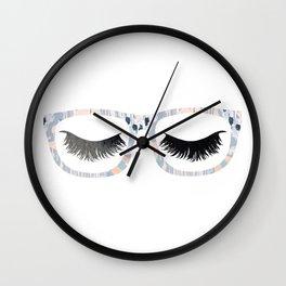 Glasses and Lashes (aka Nerdy and Flirty) Wall Clock