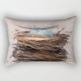 Bird Nest 3 Rectangular Pillow