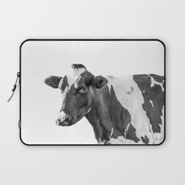 Cow Photography Animal Art | Minimalism black and white | black-and-white | Peek-a-boo Laptop Sleeve