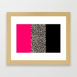 Leopard National Flag IV Framed Art Print