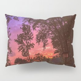 Sunset Trees Pillow Sham