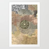 maps Art Prints featuring maps by INEPTUNE