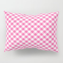 Pink Roses in Anzures 1 Gingham 1 Pillow Sham
