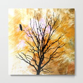 The Lonely Owl Metal Print