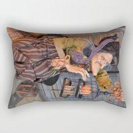 Rucus Studio Maddie the Eccentric Witch Rectangular Pillow