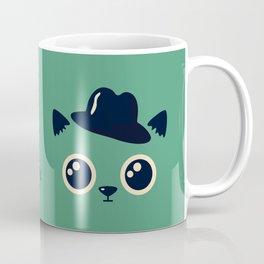 Elegant cat with hat Coffee Mug
