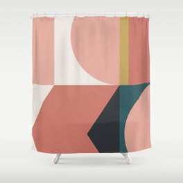 Maximalist Geometric 02 Shower Curtain