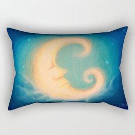 Sleepy Moon Rectangular Pillow
