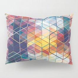 Cuben Curved #5 Geometric Art Print. Pillow Sham