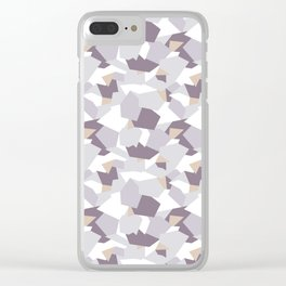 Violet abstract forms Clear iPhone Case