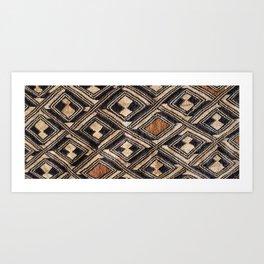 Kuba Cloth Design #1 Art Print