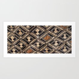 Kuba Cloth Design #1 Art Print