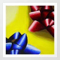 bows Art Prints featuring Bows by linziexdiane