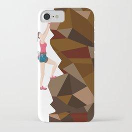 Vintage Cool Girl Rock Climbing iPhone Case