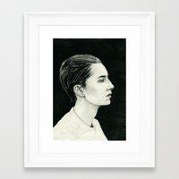 beth hoeckel Framed Art Prints featuring Beth by Kalynn Burke
