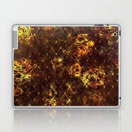 Diamond Rose Pattern - Maroon and Gold Laptop & iPad Skin