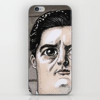 dale cooper iPhone & iPod Skins featuring Dale Cooper by Drawn by Nina