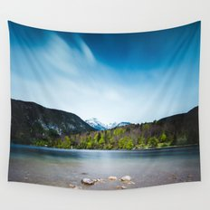 Lake Bohinj with Alps in Slovenia Wall Tapestry
