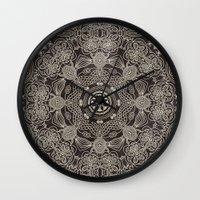 spiritual Wall Clocks featuring Spiritual Mantra by Diego Tirigall