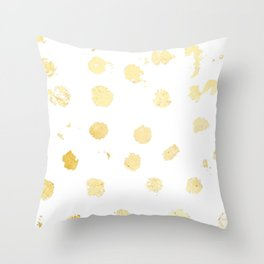 Foil Spots Throw Pillow