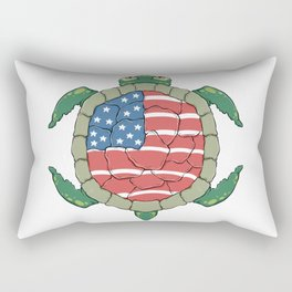 Like a turtle - Strong & Free Rectangular Pillow
