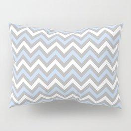 Chevron - light blue and grey Pillow Sham
