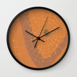 Marbled Orbweaver Spider Wall Clock