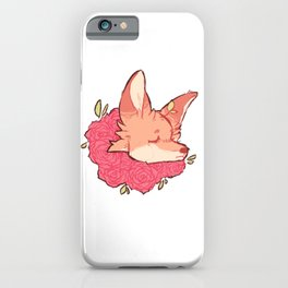 Fox rose headshot iPhone Case