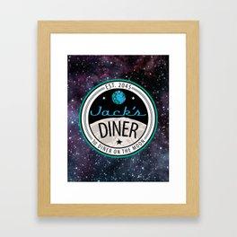 Jack's Diner on The Moon, Nebula Framed Art Print