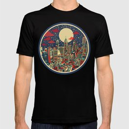 philadelphia city skyline T-shirt