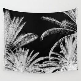 Palm Trees B&W Wall Tapestry
