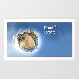 Planet Toronto Wall Paper Art Print