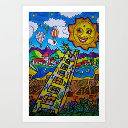 Sun Kissed Song Art Print