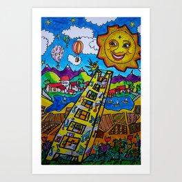 Sun Kissed Song Art Print