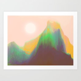 Mountain Heat Art Print