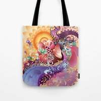 koi Tote Bags featuring Koi by Nick La