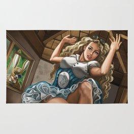 Steampunk Alice in Wonderland Drink Me Rug
