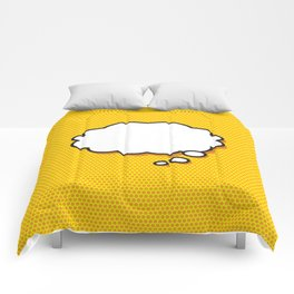 Comic Book THINK Comforters