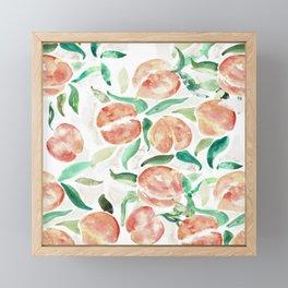 Watercolor Peaches Framed Mini Art Print