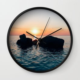 Sunset by the Sea // Landscape Photography Wall Clock