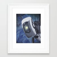 glados Framed Art Prints featuring GLaDOS by Mage Lanz