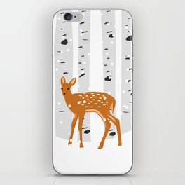 Baby Deer in the snow iPhone Skin
