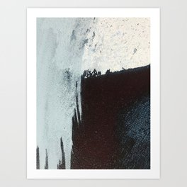 Like A Gentle Hurricane [3]: a minimal, abstract piece in blues and white by Alyssa Hamilton Art Art Print
